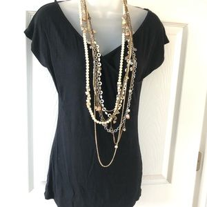 Chico's multiple layers design long necklace.